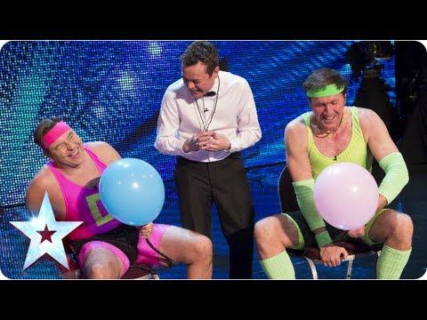 Balloon Bottom Battle! David Walliams vs Goliath | Britain's Got More Talent 2013