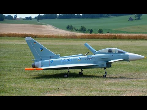 Scale RC Turbine Model Jet Eurofighter Typhoon 10'000 Flight Hours On The 3.Airlinermeeting (D)
