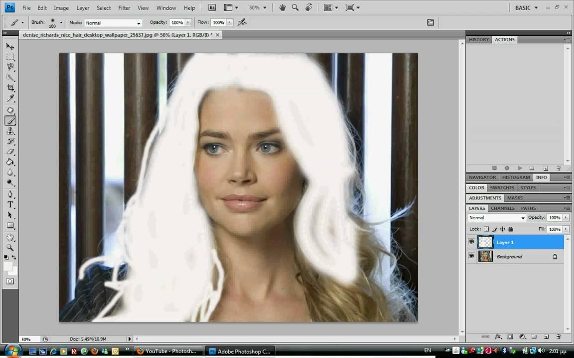 Как сделать волосы светлее в фотошопе cs6