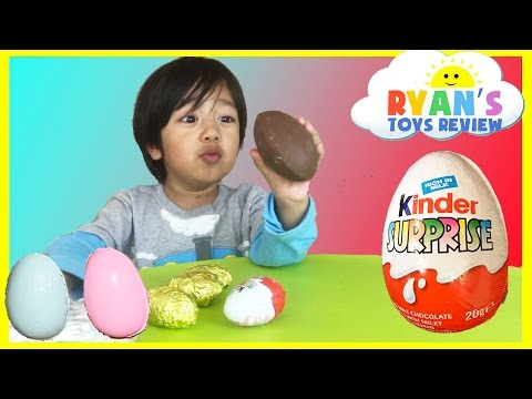 Kinder Surprise Eggs Toys Opening Disney Cars Toys Kids Video Ryan ToysReview