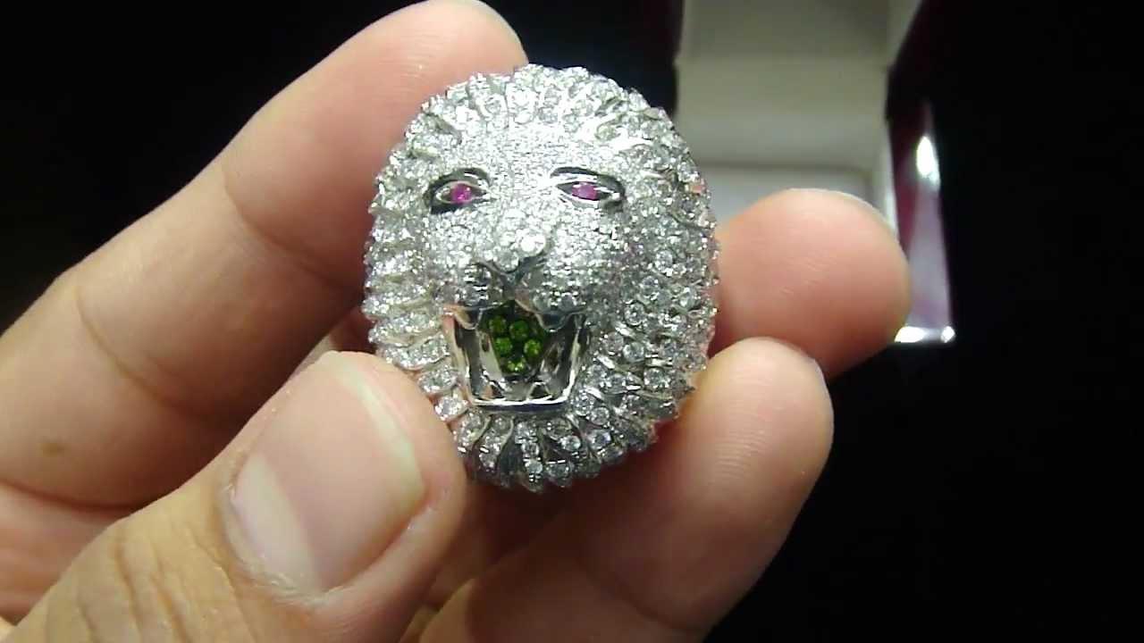 Mr Chris Da Jeweler Custom Real Gold Real Diamond Lion