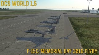 "[DCS World] 1.5: F-15C ""Redhawks Memorial Day 2016 Flyby"""