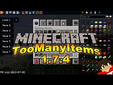 Minecraft 1. 7. 4: How to install TooManyItems Mod for PC!! (Non-Forge)
