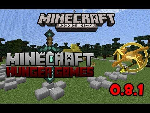 Minecraft PE 0.8.1   Como entrar a Los Juegos Del Hambre