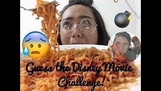 2x SPICY NOODLE CHALLENGE |  GUESS DISNEY MOVIE ❤️