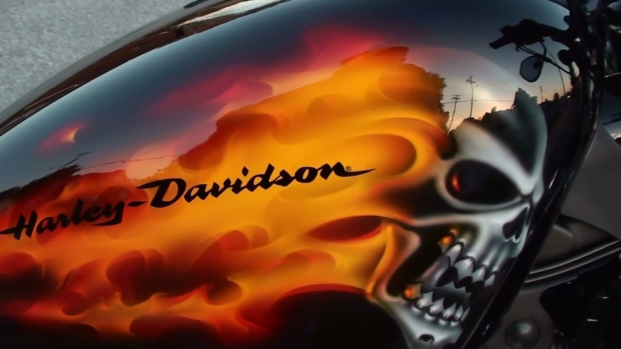 Custom Paint Motorcycles Flames