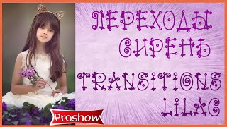 Переходы Сирень Proshow Producer Transitions Lilac HD