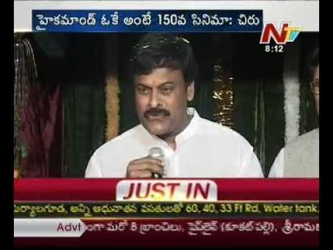 Chiru declared his 150th film with high command permission