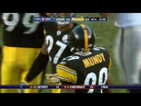 Louis Murphy GW TD vs Steelers (12/6/09) Video
