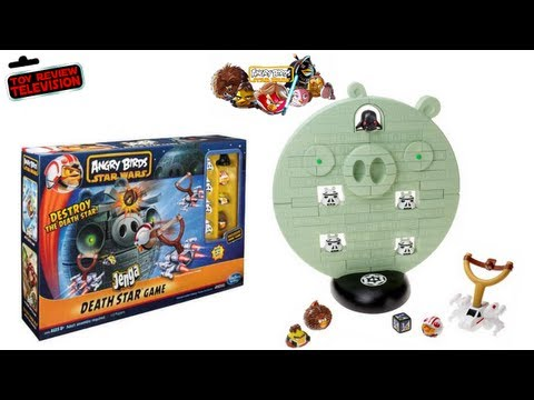 Angry Birds Star Wars Death Star Jenga Game From Hasbro Toy Review Unboxing