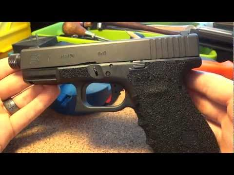 Glock 19 with my Lava Rock Stippling