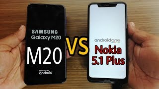 Samsung Galaxy M20 vs Nokia 5.1 Plus Speed Test?