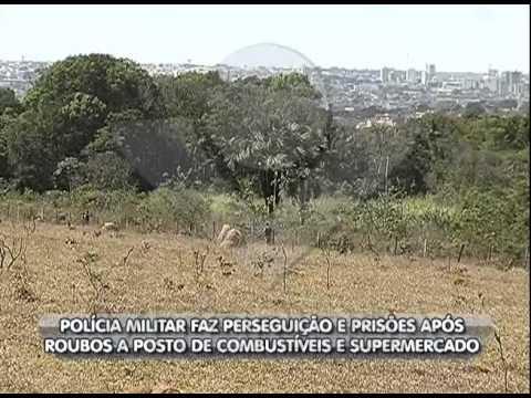 Polícia utiliza helicóptero na perseguição a três assaltantes em Uberlândia - parte 1