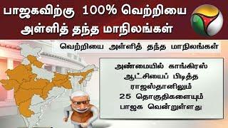 பாஜகவிற்கு  100% வெற்றியை அள்ளித் தந்த மாநிலங்கள்