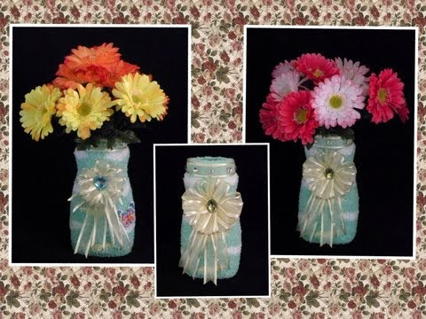 FLORERO HECHO CON MATERIAL RECICLABLE .- HOW TO MAKE A RECYCLED VASE .