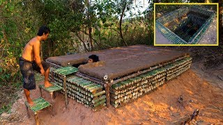 Building Amazing Secret Underground Bamboo House