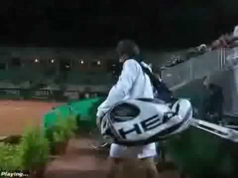 Novak Djokovic Funny in Rom 2009 best Momenst