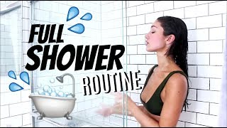 A REALLY HONEST SHOWER ROUTINE | UPDATED *2018* (skincare, haircare, and tanning!)
