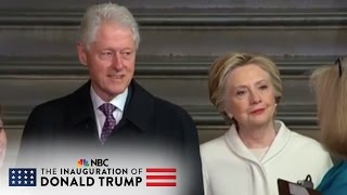 Hillary and Bill Clinton Arrive at The Inauguration of Donald Trump | NBC News