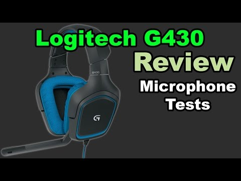 Logitech G430 Gaming Headset Review and Microphone Test