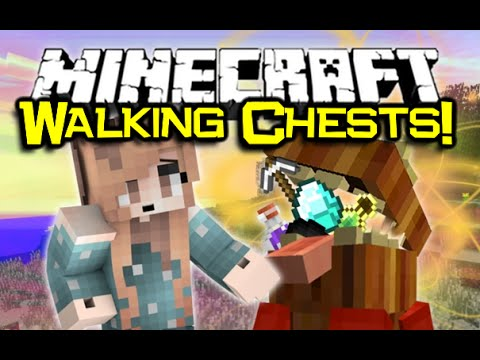 Minecraft THE WALKING CHESTS! Chester Don't Starve Mod Spotlight