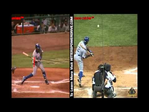 Baseball Swing Analysis Alfonso Soriano side and back
