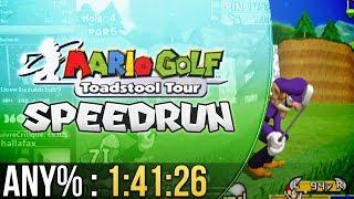 Mario Golf: Toadstool Tour Any% Speedrun in 1:41:26