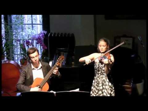 Paganini Sonata Concertata M.S. 2 in A Major for Violin and Guitar, 2nd movement