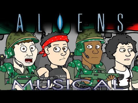 Download song on iTunes: http://itunes.apple.com/us/album/movie-musicals-vol.-1/id525667564 Movie Musicals #4: ALIENS THE MUSICAL Ripley returns to LV-426 with Lady Gaga and a squad of Colonial...