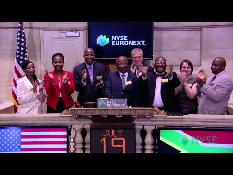 Andrew Mlangeni, Former S. African Political Activist and Nelson Mandela Associate Visits the NYSE