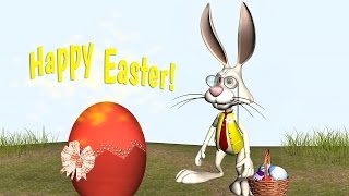 🐰 Happy Easter Funny Bunny Song. Magical Easter Egg