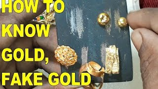 HOW TO KNOW GOLD IS REAL|| HOW TO KNOW SPOT FAKE GOLD