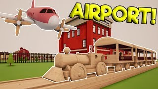 TOY TRAIN STUNTS & NEW AIRPORT UPDATE! - Tracks - The Train Set Game Gameplay - Toy Train