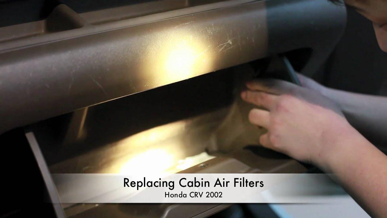 replacing cabin air filters  honda crv  youtube