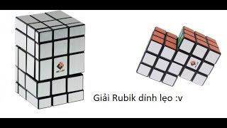 Cách giải Rubik mirror 3x3x5 và những khối rubik 3x3 dính đôi
