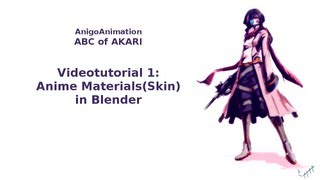 videotutorial 1: Anime materials(like skin)