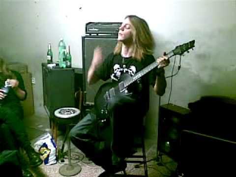 Mobil shot - czech black metal band Asgard - guitar record