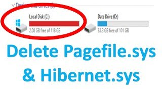 How to Delete Hiberfil.sys & Pagefile.sys File & Free Up LOTS of Hard Drive Space