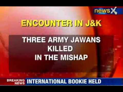 J&K: Three army jawans killed in an encounter