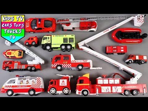 🔴 New Fire Vehicles For Kids Children Babies Toddlers | Fire Truck Song For Kids Children Toddlers