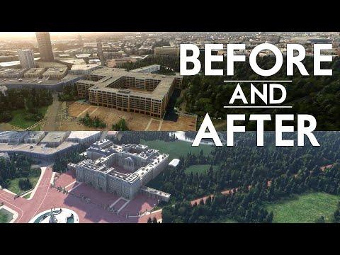 Microsoft Flight Simulator - UK Update Before and After