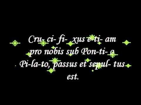 Canto Gregoriano CREDO con letra..Catolico