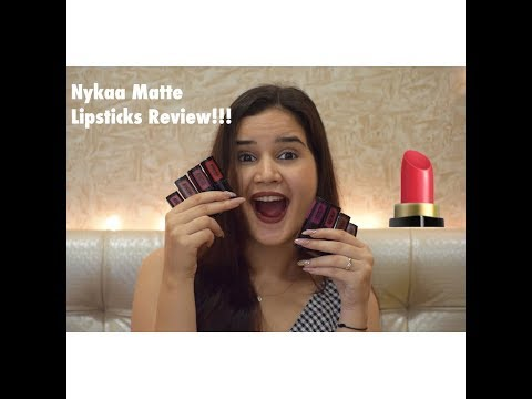 NYKAA MATTE TO LAST LIQUID LIPSTICKS REVIEW | SHIVSHAKTI SACHDEV | LIPSTICKS