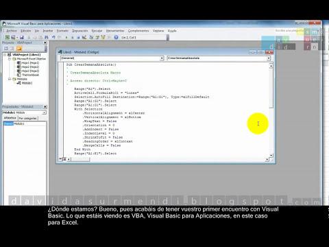 Macros en Excel 2010: Cómo Crear y Grabar una Macro con la Grabadora de Macros. Primeros Pasos.
