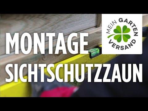 Mein Gartenversand: Sichtschutzzaun Aufbauen