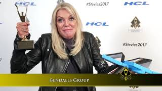 Bendalls Group wins in the 2017 Stevie® Awards for Women in Business