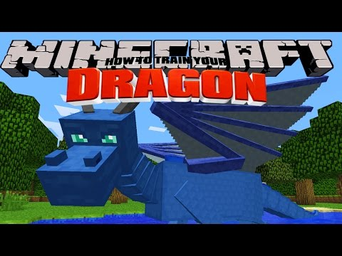 Minecraft HOW TO TRAIN YOUR DRAGON Splash the Water Dragon 2