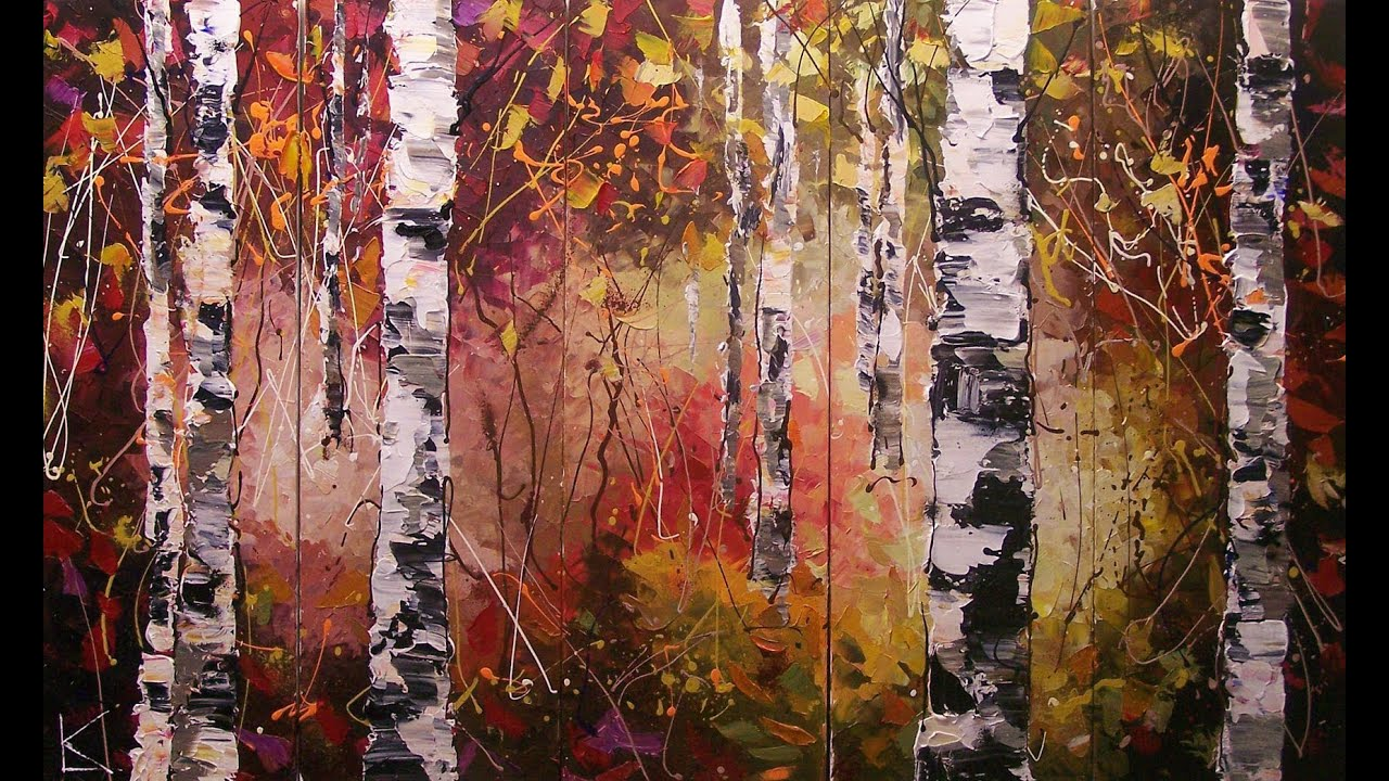 Oil Paintings of Birch Trees Birch Trees Paintings on