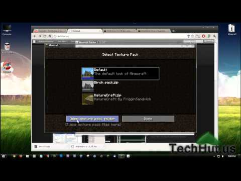 Minecraft Tutorial: How to install HD Texture Packs