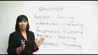 English Grammar - Are you bored or boring?